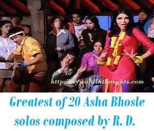Asha Bhosle solos composed by R. D. Burman