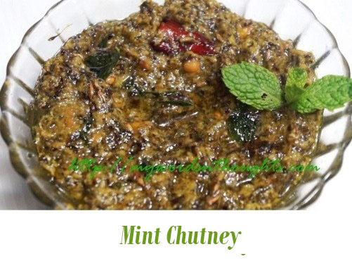 Pudina Chutney (Mint Chutney)