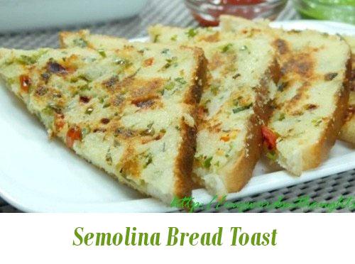 Rava Bread Toast (Semolina Bread Toast)