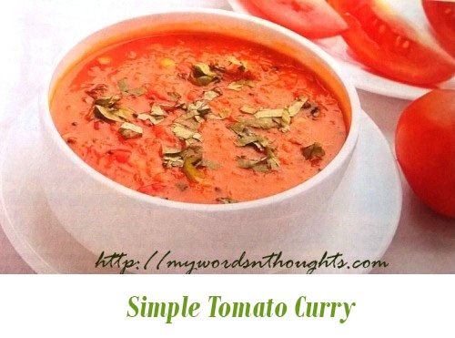 Simple Tomato Curry
