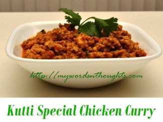 Kutti Special Chicken Curry