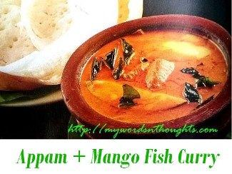 appam and maanga meen curry
