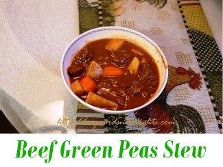 beef green peas stew