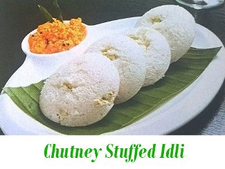 chutney stuffed idli
