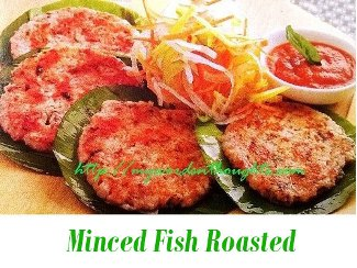 minced fish roasted
