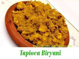 tapioca biryani