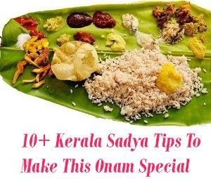 Kerala Sadya Tips