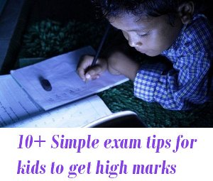 exam tips for kids