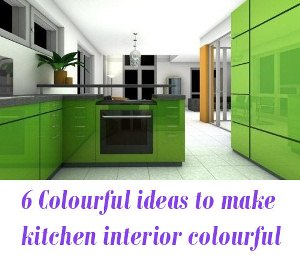 ideas to make your kitchen interior colourful