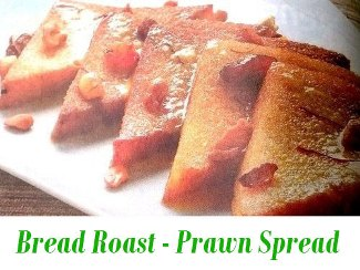 Bread Roast with Prawns Spread