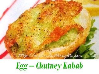 Egg Chutney Kabab