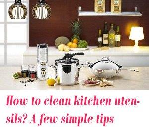 clean kitchen utensils