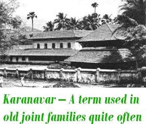Karanavar of tharavadu