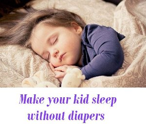 kid sleep without diapers