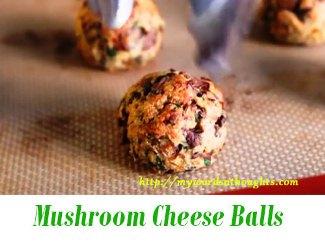 Mushroom Cheese Balls