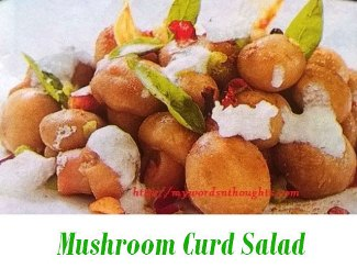 Mushroom Curd Salad
