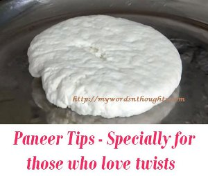 Paneer cooking Tips