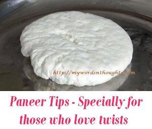 Paneer cooking Tips