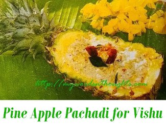 Pine Apple Pachadi for Vishu Sadya