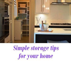 Simple storage tips