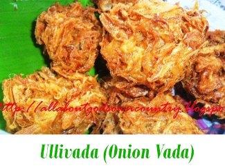 Ullivada (Onion Vada)
