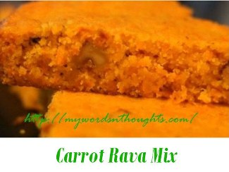 carrot rava mix