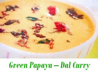 green papaya dal curry