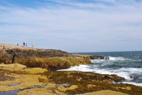The view to the left of Schoodic Point.