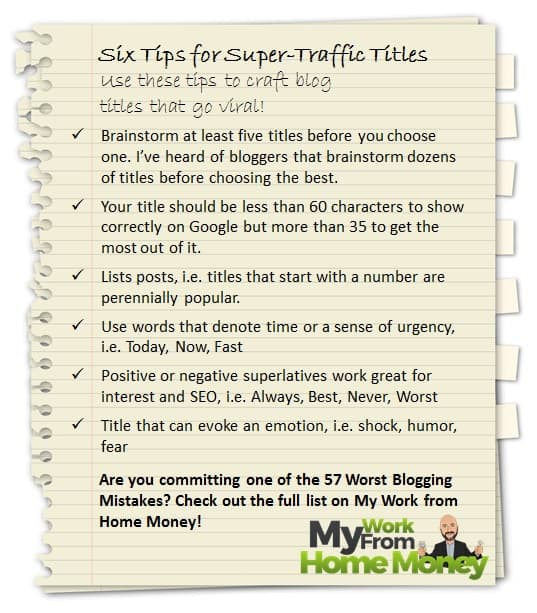 suggerimenti per la creazione di titoli virali per blog