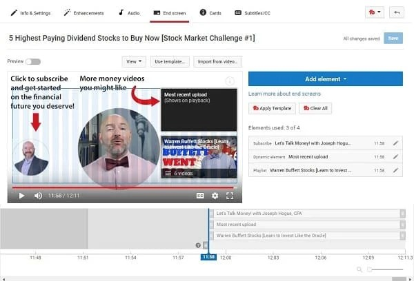 how to add an end screen to youtube video