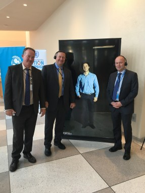 Colleagues from UN Security and Safety