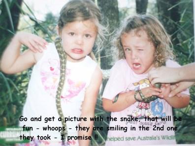 Ahhh snake Text