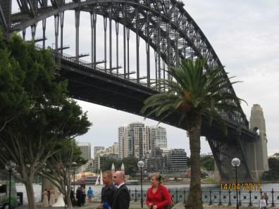Attending my Aunties wedding under the Sydney Harbor Bridge