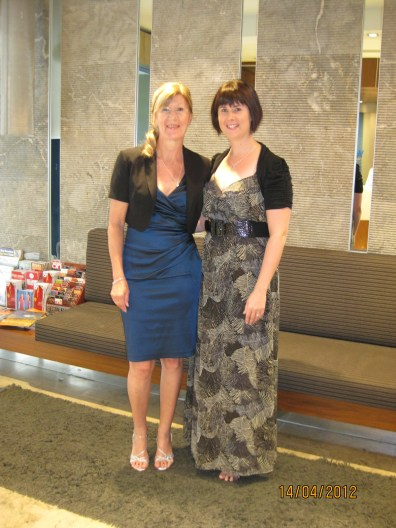 Mum and I in the foyer at the Wyndham Sydney Resort