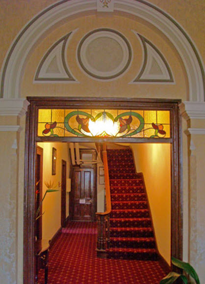 The grand staircase hints at how life was for the wealthy esquires of last century and now is ready for your yesteryear daydream.