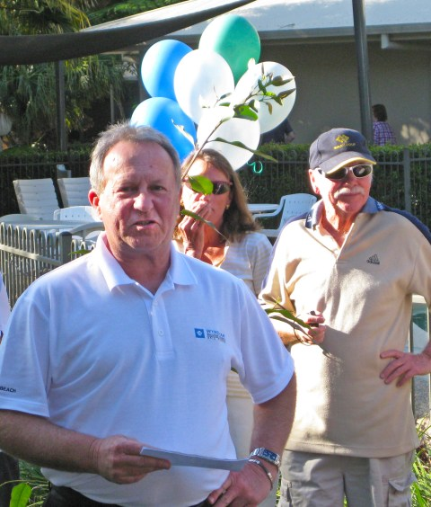 Tony Terlecki, Project Director of Wyndham Flynns Beach made a great speech.