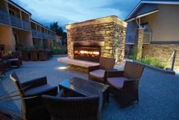 Wanaka Outside fireplace