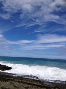 Victorian coastline ocean and sky meet