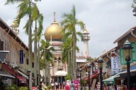 """Singapur: """"Sultan Moschee"""", Arab Street."""