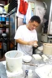 Singapur-Dim Sum-Wanton-Handarbeit