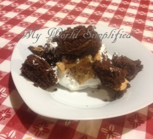 S'more trifle cake