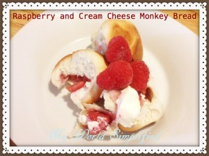 Raspberry and Cream Cheese Monkey Bread