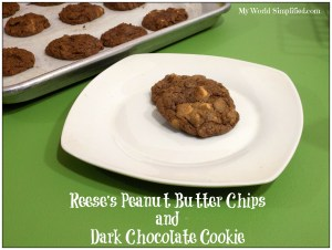 Dark Chocolate with Peanut Butter Chips Cookies
