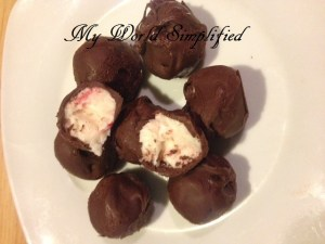 candy cane chocolate coated truffles