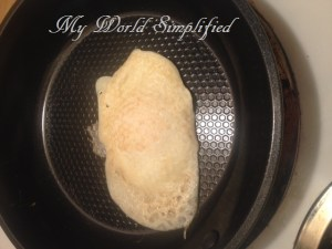 egg fried without oil