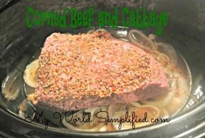 St. Patricks Day Dinner: Crockpot Corned Beef