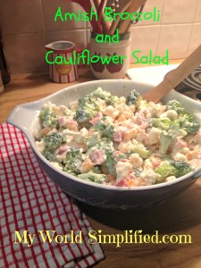 Amish Broccoli and Cauliflower Salad #SundaySupper