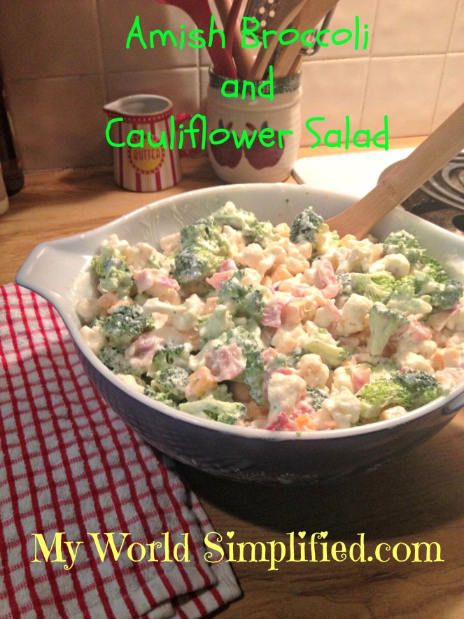 amish broccoli and cauliflower