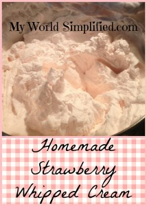 Homemade Strawberry Whipped Cream