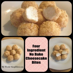 No Bake Cheesecake Bites Recipe